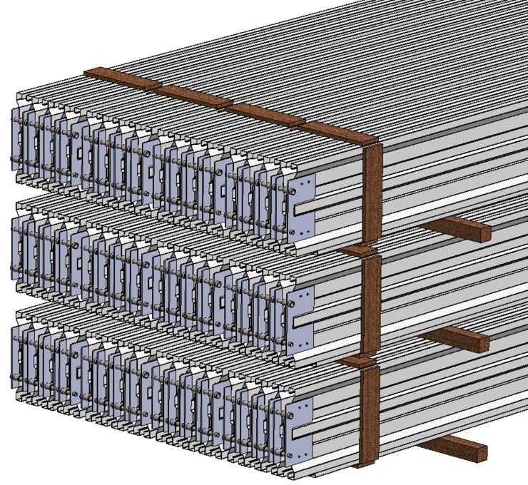Filterplaten, ophangbalken, klopbalken, sproeiramen, sproei-elektrode