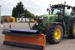 Schuitemaker stalen sneeuwploeg, voor de tractor voor hoofdrijbanen